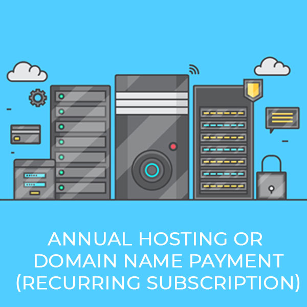 Annual Hosting Or Domain Name Payment (Recurring Subscription)