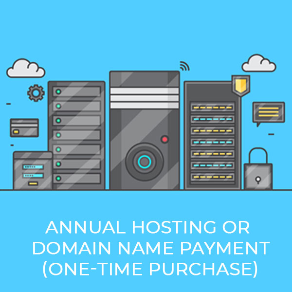 Annual Hosting Or Domain Name Payment (One-Off)